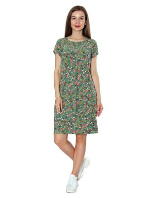 Платье зеленое в принт   5802779