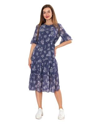 Платье синее в принт   5802787