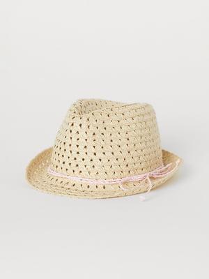 Шляпа бежевая   5804158