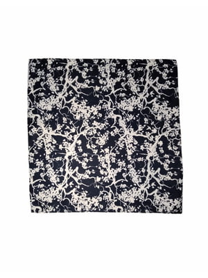 Платок темно-синий с принтом | 5804553