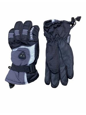Перчатки черно-сере спортивные | 5804638