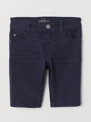 Шорты темно-синие джинсовые   5805166