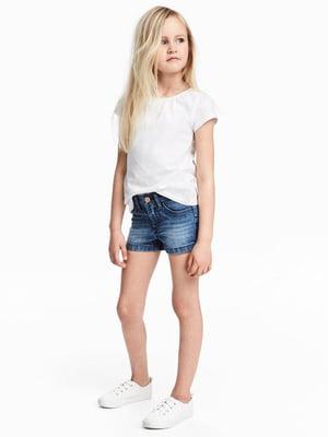 Шорты синие джинсовые   5805164