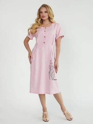Платье розовое с цветочным принтом   5805307