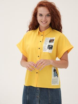 Рубашка желтая с декором   5807091
