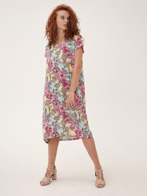 Платье разноцветное с принтом | 5807103