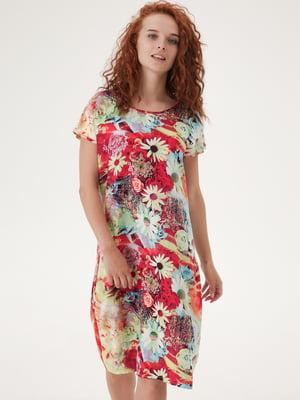 Платье разноцветное с принтом | 5807104