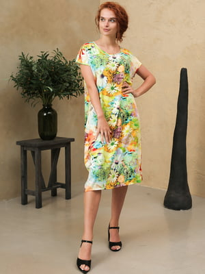 Платье разноцветное с принтом   5807106