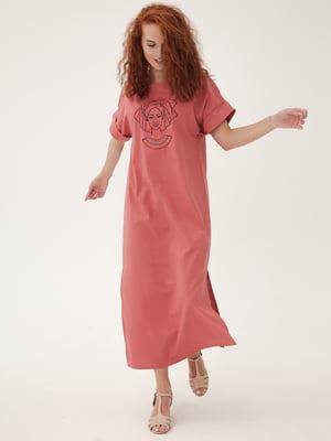 Платье кораллового цвета | 5807113