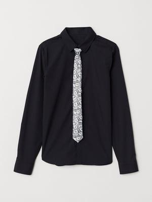 Краватка біла з принтом | 5808382