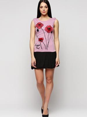 Сукня комбінованого кольору з аплікацією | 5793297
