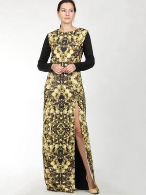 Сукня комбінованого кольору з орнаментом   5793658