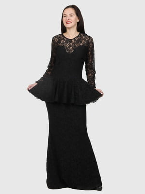 Платье черное с узором | 5793704