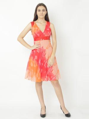 Сукня комбінованого кольору в принт   5796269