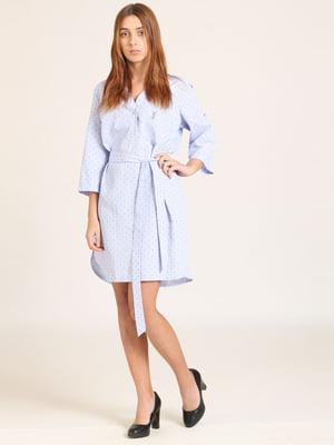 Сукня блакитна в цяточку | 5810563