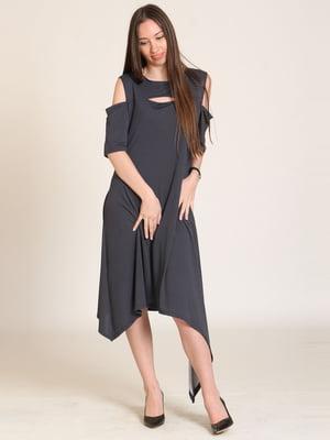 Сукня чорна в цяточку | 5810564