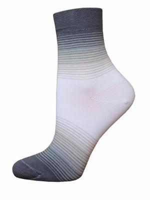 Шкарпетки двоколірні в смужку | 5697963