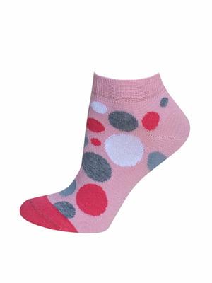 Шкарпетки рожеві в горох | 5697983