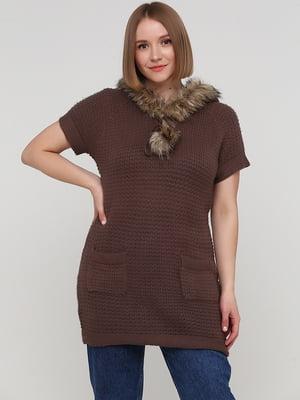 Джемпер коричневий   5805106