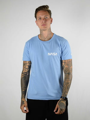 Футболка голубая с логотипом | 5818034