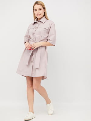 Платье-рубашка сливового цвета | 5818108