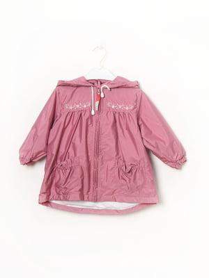 Плащ розовый с рисунком   5818313