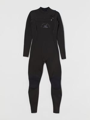 Гидрокостюм черный с логотипом | 5819082