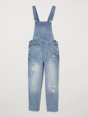 Комбинезон джинсовый голубой   5819717