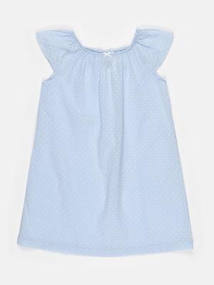 Ночная рубашка голубая в горошек   5820370