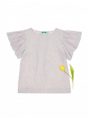 Блуза бежева в смужку | 5820129
