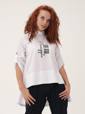Блуза белая с рисунком   5776903