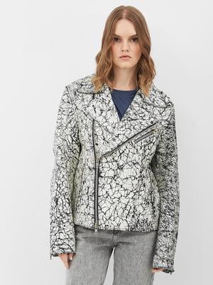 Куртка біла з візерунком   5821033