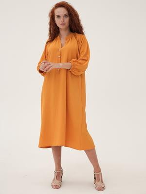 Платье горчичного цвета | 5821289