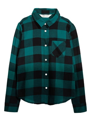 Рубашка зеленая в клетку | 5821866