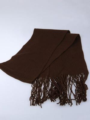 Шарф коричневый   5824535