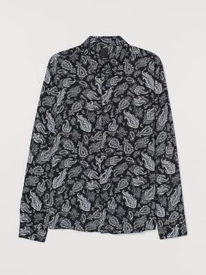 Рубашка черная в принт   5824571