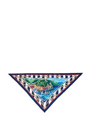 Косинка різнокольорова з малюнком | 5826261