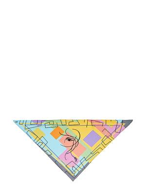 Косинка різнокольорова з малюнком | 5826262