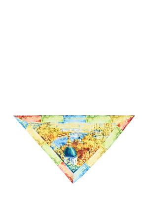Косинка різнокольорова з малюнком | 5826264