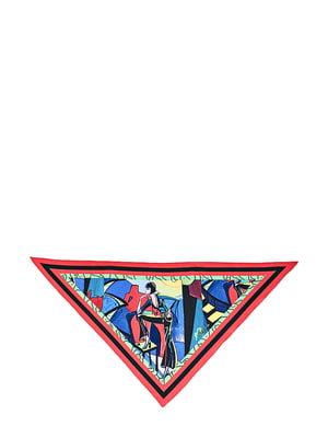 Косинка різнокольорова з малюнком | 5826267