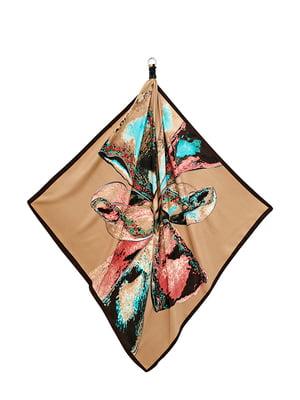 Хустка різнокольорова «Шоколадна пристрасть» | 5826299