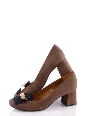 Туфлі коричневі з декором   4913595