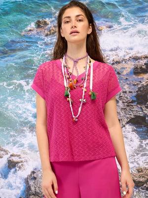 Блуза рожева з візерунком | 5828158