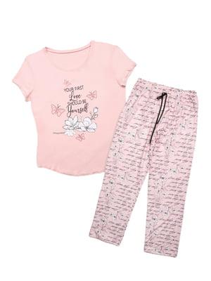 Пижама: футболка и брюки   5830159