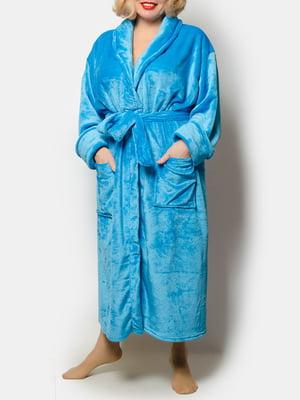 Халат голубой   5770380