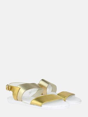 Сандалі золотистого кольору | 5830502