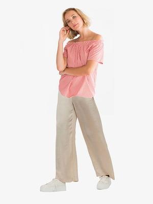 Блуза рожева картата | 5831304