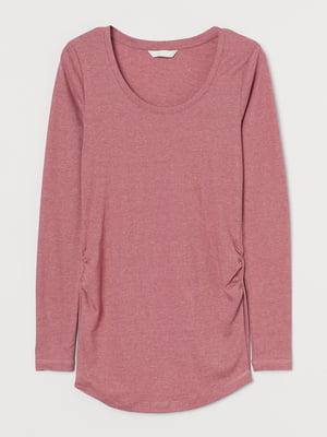 Лонгслів для вагітних кольору рожевої пудри   5831837