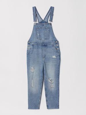Комбинезон голубой джинсовый   5832008