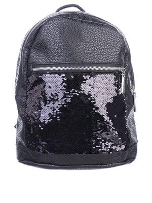 Рюкзак чорний з декором   5834532